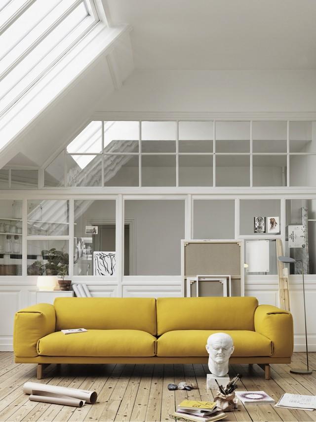 Rest_Yellow_Hallingdal 457_Leaf Floor Lamp