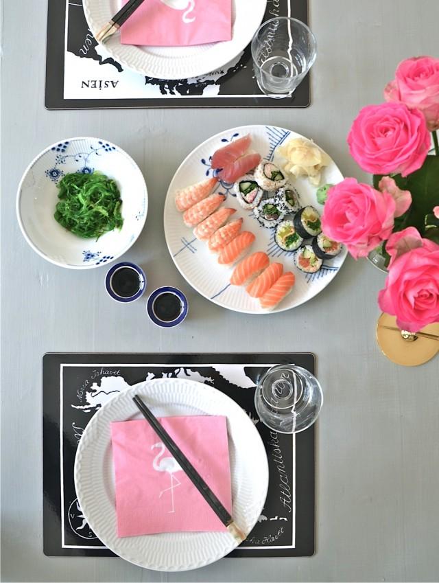 Sushi Flamingo Style