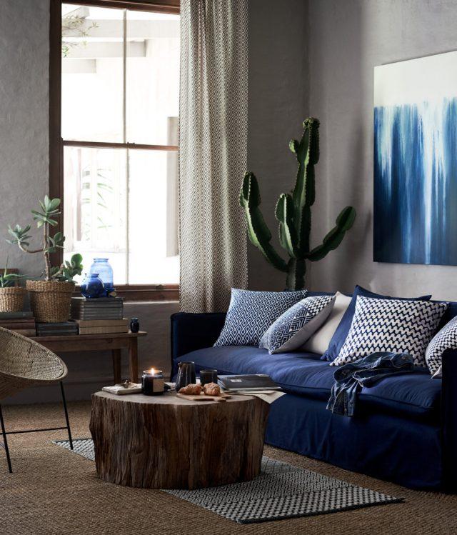 Blå vågen fortsätter hos H&M Home våren 2017