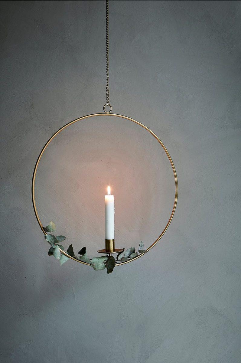 Hängande ljusstake i mässing