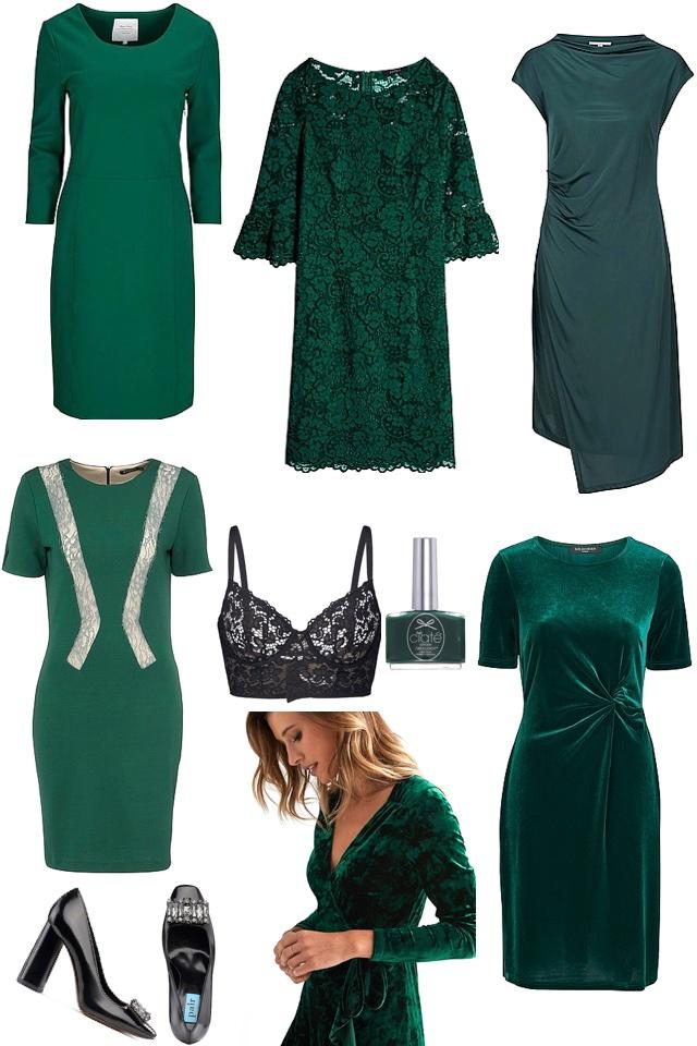 Traditionell jul med inslag av gröna sköna toner!