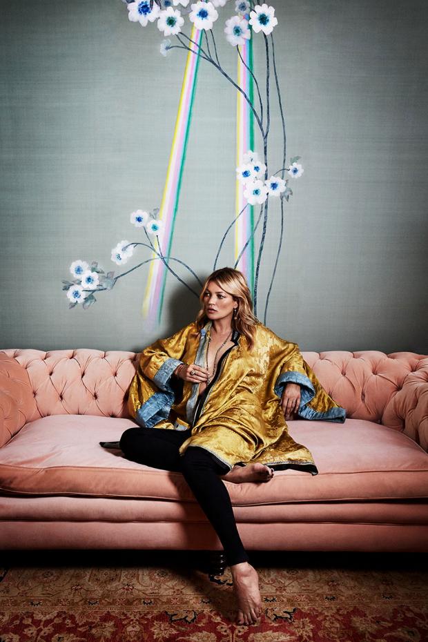 de Gournay + Kate Moss