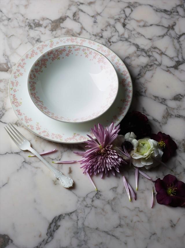 Rosa Sla?pe marble flowers left