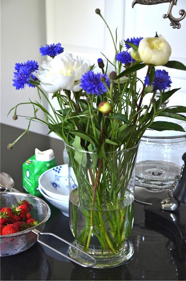 Sju sorters blommor midsommar