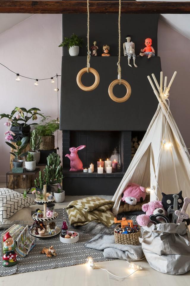 barnrum-inspiration-picknick-pa-golvet-talt-barn-romerska-ringar