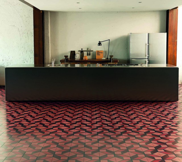Bisazza-Cementiles_Skew-Red_design-Tom-Dixon