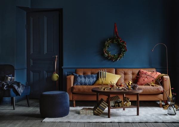 Julinspiration i blå toner signerat IKEA