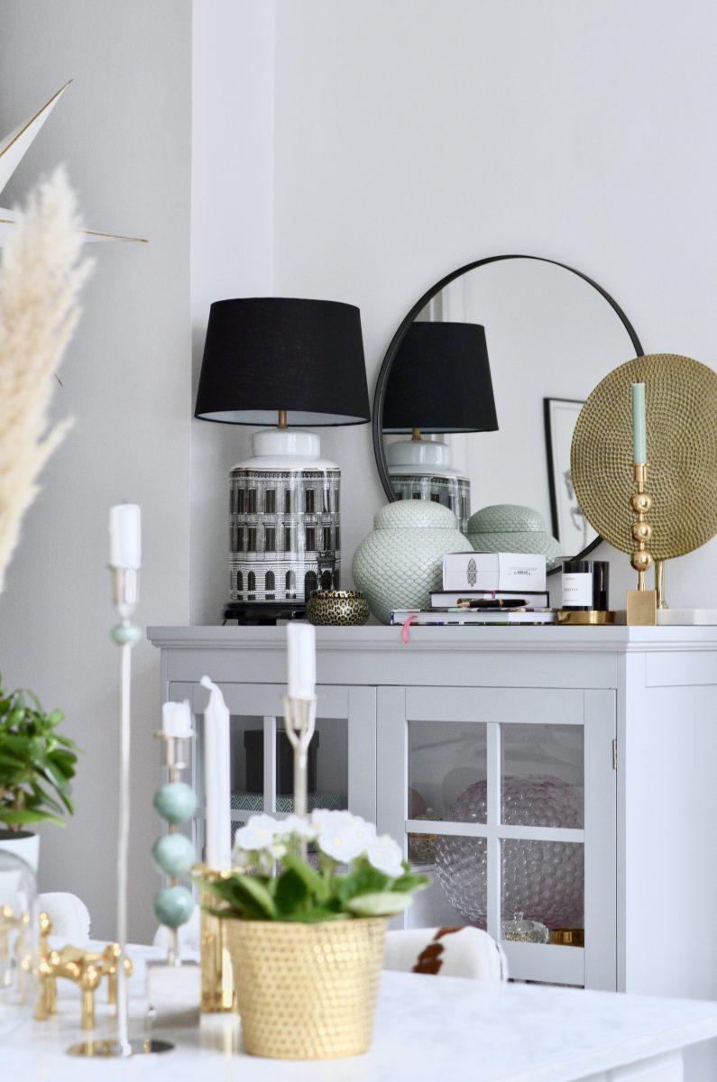 Lampfot och lampskärm
