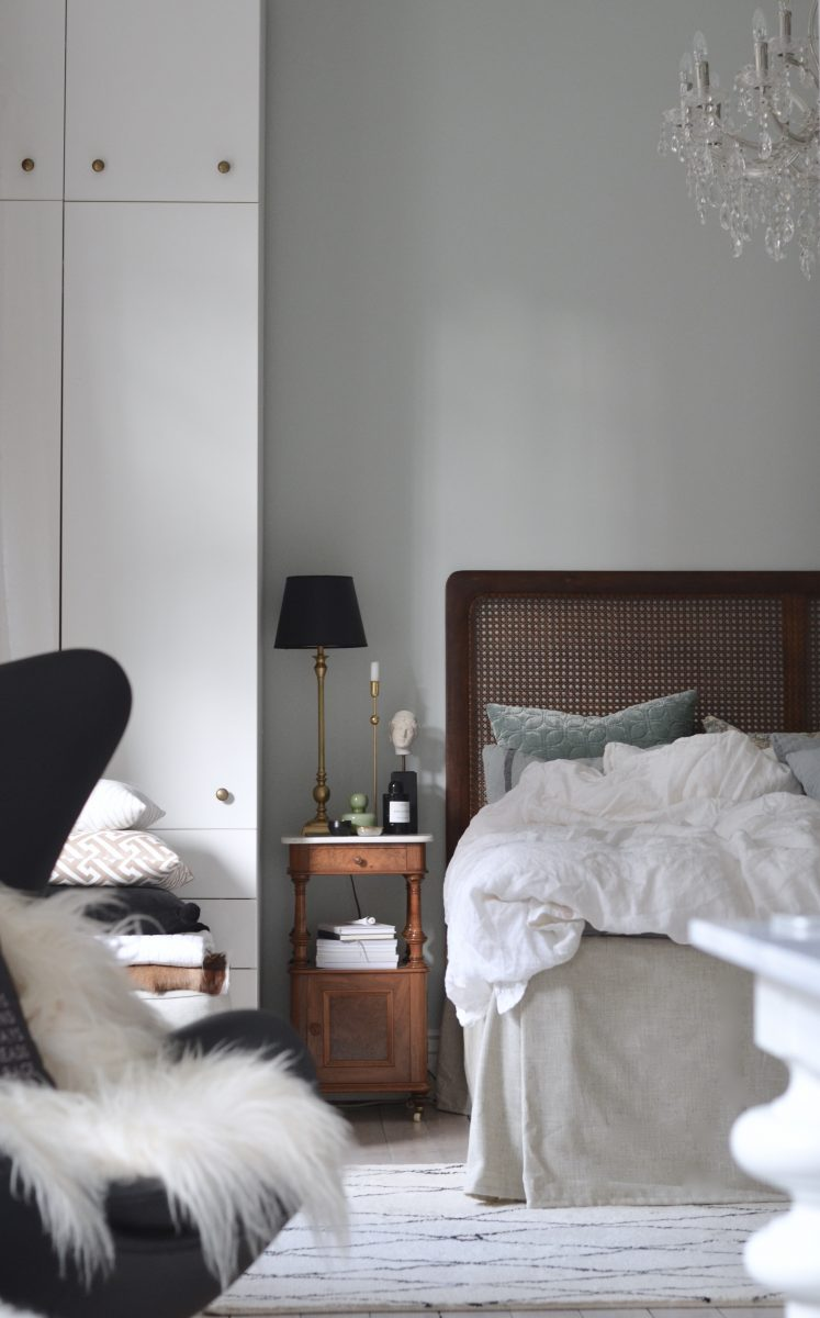 Vintervitt i sovrummet